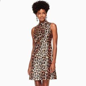 NWT Kate Spade Leopard Sequin Shift Dress Size 14